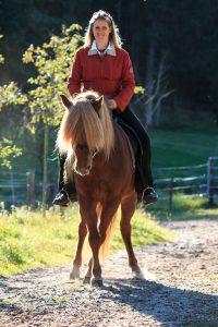 Kaja Stührenberg auf einem Islandpferd